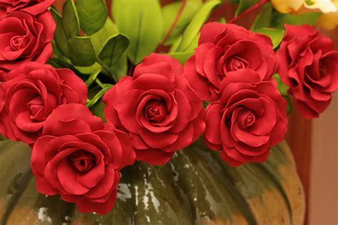 Bunga Minirose Kain bunga foam menjahit mengait kesenian pertukangan tangan hobi koleksi forum cari