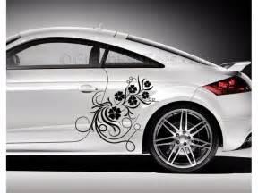Audi tt car sticker side decal flower car sticker girly car