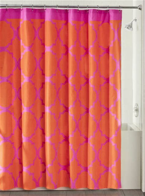 orange and pink curtains orange shower curtains decor by color