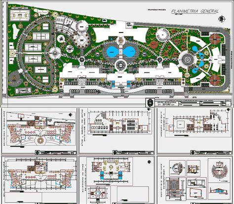 design center in cad tourist recreation center 2d dwg design section for