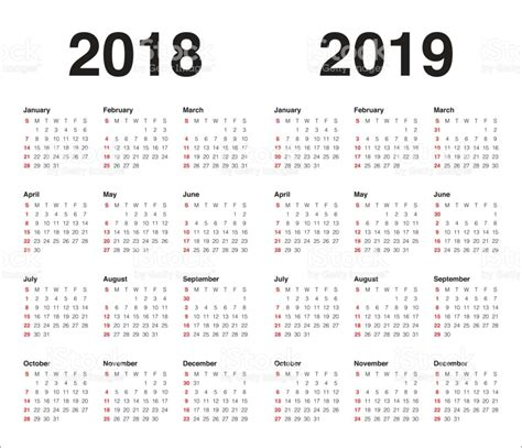 2018 2019 24 month calendar 2 year monthly pocket planner notebook notes and phone book u s holidays lettering book 4 0 x 6 5 books 2018 2019 년 달력 벡터 일러스트 847538126 istock