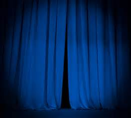 blue stage curtains images