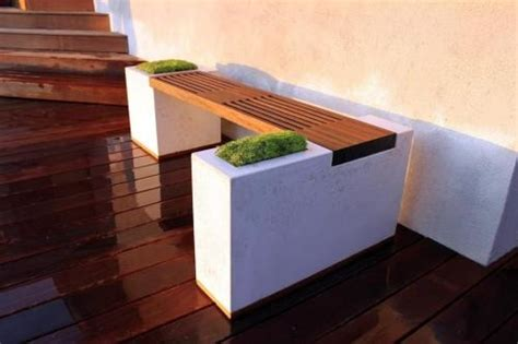 concrete and wood benches cool concrete and wood bench furniture inspiration pinterest