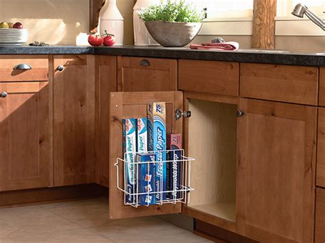 Kitchen Cabinet Door Organizer Sink Storage Door Rack Kitchen Drawer Organizers Minneapolis By Mid Continent Cabinetry