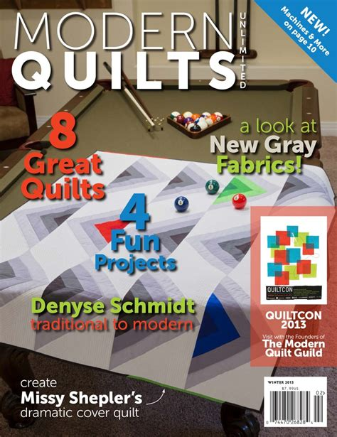 Modern Quilt Magazine by Modern Quilts Unlimited Magazine Winter 2013 Http Mqumag