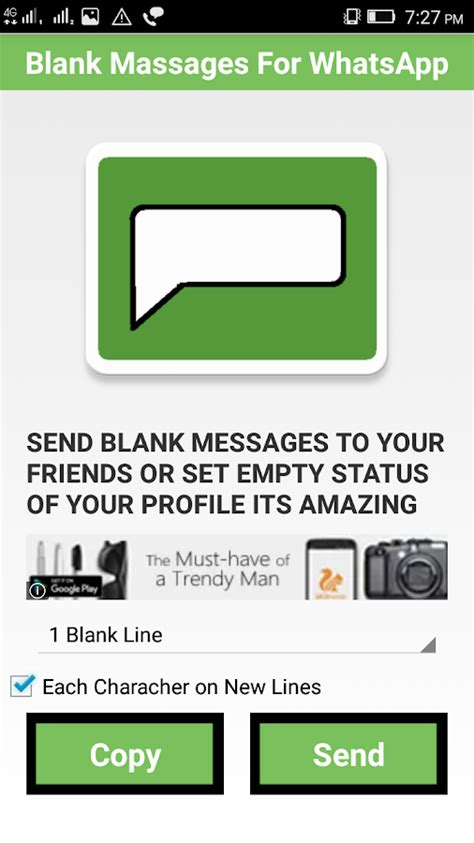 Lintang Text Casual Set Size S blank text for whatsapp android apps on play