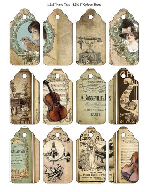 printable vintage tags free vintage printable tags vintage printables 1 pinterest