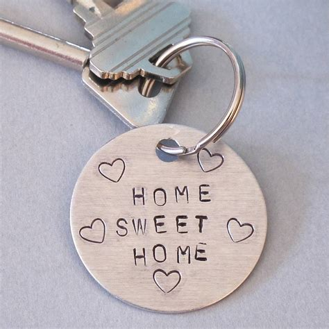 home sweet home personalised key ring by edamay