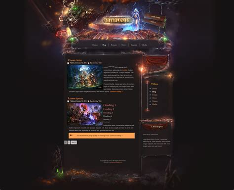 Legion Game Html Template Gaming Community Website Templates