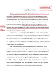 Writing A Response Essay by How To Write A Response Paper