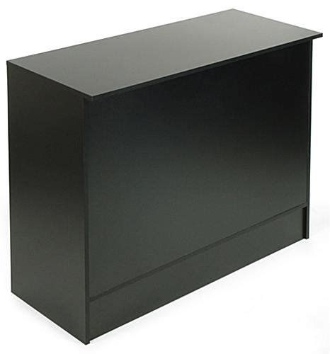 displays2go display products pos retail fixtures store cash wrap counter black melamine display