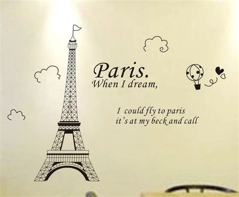 Diy Hippie Home Decor by Fashion Paris Eiffel Tower Removable Vinyl Art Quotes Wall
