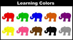 when do toddlers learn colors colors for children learn colors with elephant colors