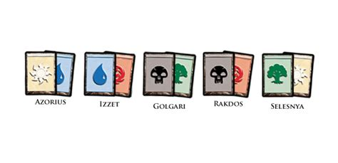 mtg color combinations guilds divided daily mtg magic the gathering