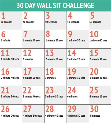60 days squat challenge runproctor 30 day squat and wall sit challenges