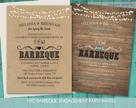 backyard bbq wedding invitations printable i do bbq wedding reception invitation wedding