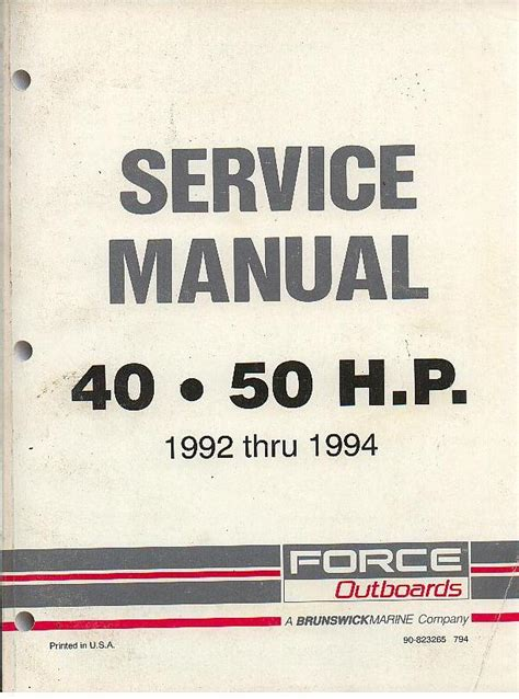service manual free owners manual for a 1992 mercedes benz 500sl service manual free service mercury marine force outboards 40 50 hp 1992 thru 1994 service manual