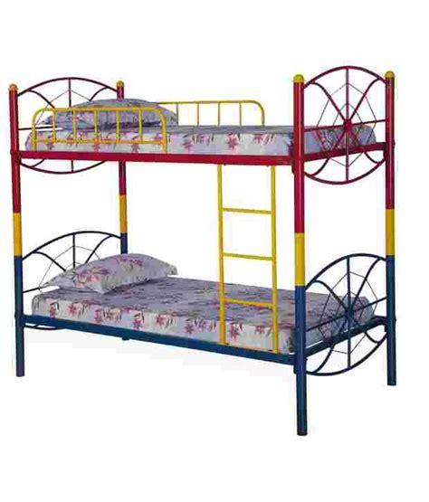 red bunk beds nilkamal venza bunk bed red blue yellow buy nilkamal