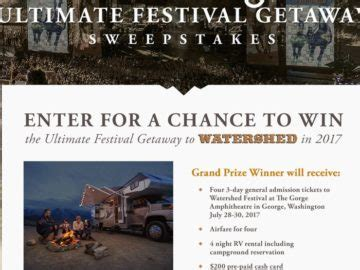Go Rving Sweepstakes - go rving ultimate festival getaway sweepstakes