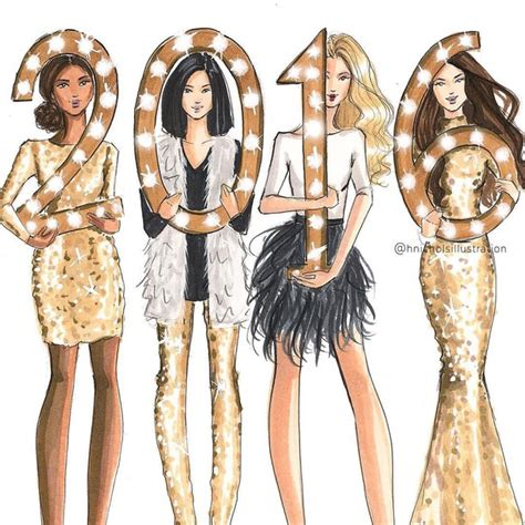 fashion illustration happy new year happy new year my lovely followers thanks for this amazing year image 3924735 by marine21 on