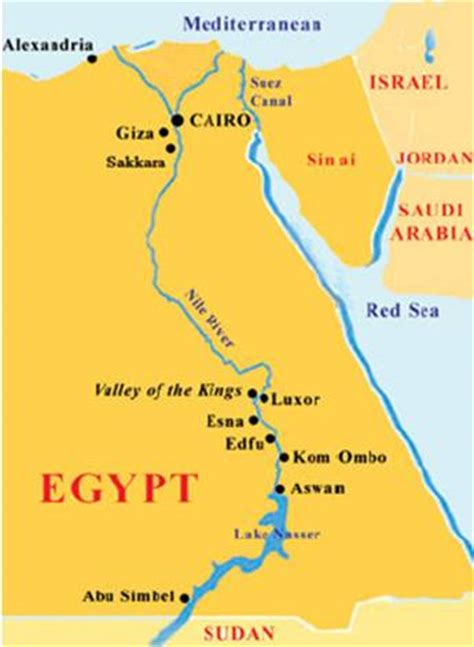 middle east map nile river