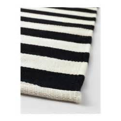 ikea black and white rugs stockholm rug flatwoven handmade striped black white
