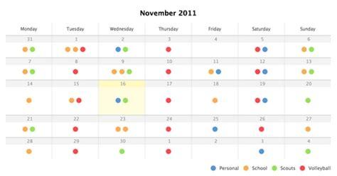 calendar design using jquery how to create a clean calendar in css3 jquery web