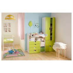stuva changing table with 4 drawers white green 90x79x102