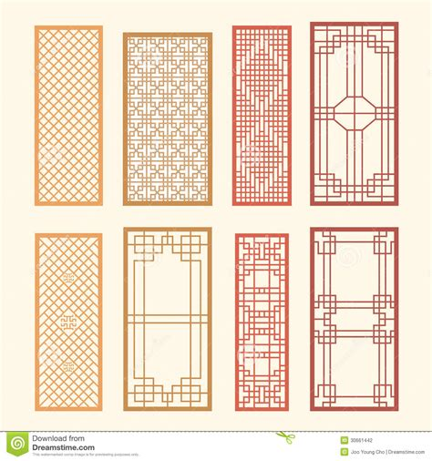 pattern window frame korean old of window frame symbol sets korean traditional