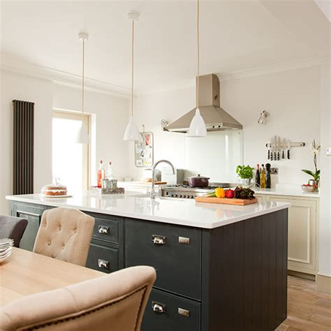 Kitchen Central Island Modern Grey Painted Kitchen Makeover Ideal Home
