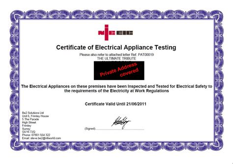 pat testing certificate template the ultimate tribute booking show info