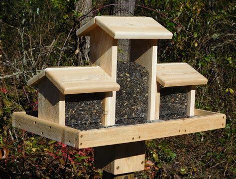 cedar bird feeder triple bird feederhuge bird feederlarge