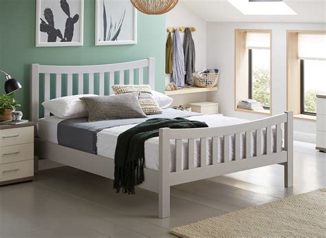sherwood grey wooden bed frame dreams