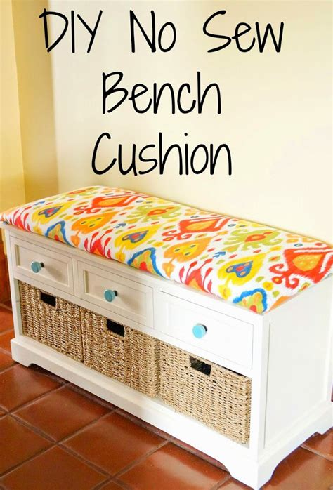 making a cushion for a bench diy no sew bench cushion