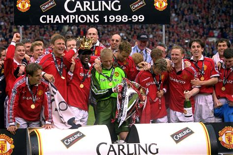 epl winners since 2000 1998 99 season review man utd seal the treble