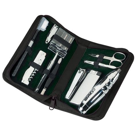 grooming kit royce 174 leather executive travel and grooming kit 176531 travel accessories at