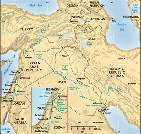 middle east map euphrates river finance development september 2001 optimal water