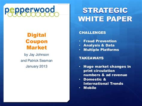 Home Market Type 1 Promo digital coupon market executive overview