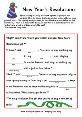 new year picture story new year worksheets