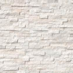 tez marble arctic white natural stacked stone veneers
