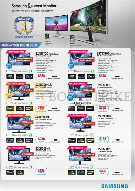 Samsung L E D Tv Price List by Samsung Monitors Led Curved Uhg S24e370d S27e370d