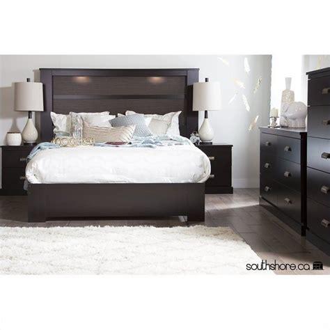 south shore vito 3 piece queen platform bedroom set in south shore gloria 3 piece queen platform bedroom set in