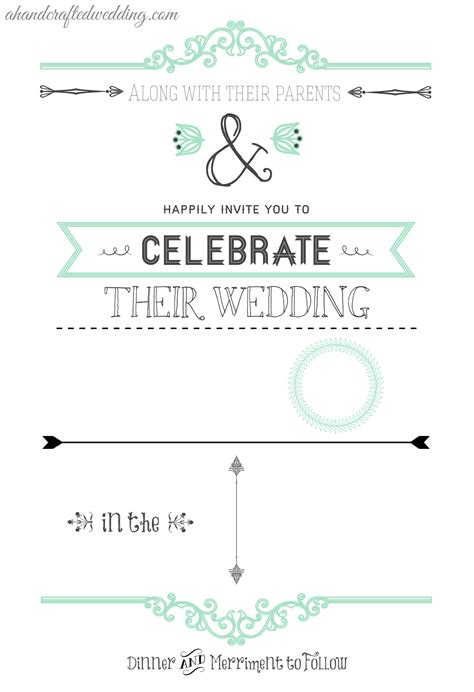 free wedding invitation template sles diy