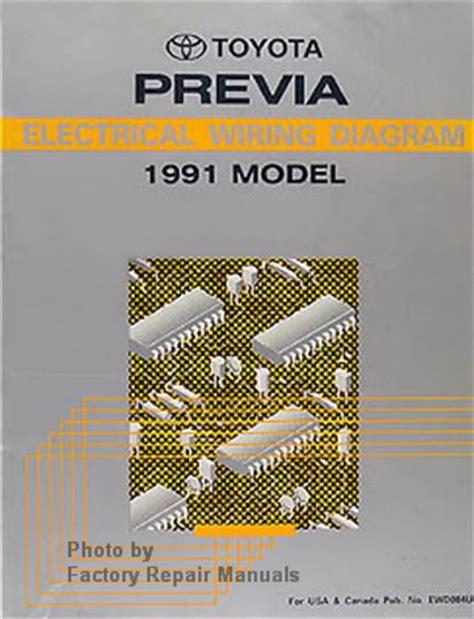 book repair manual 1991 toyota previa parking system 1991 toyota previa mini van electrical wiring diagrams