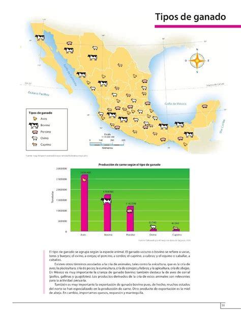 atlas de mxico 4 grado 2015 2016 tipos de ganado bloque iv lecci 243 n 4 apoyo primaria