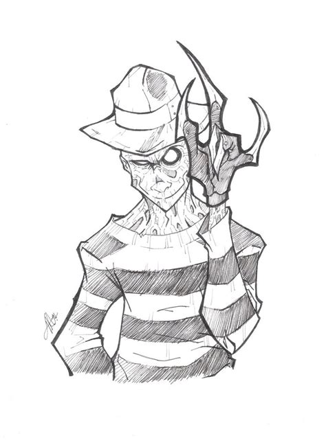 freddy vs jason coloring pages sketch coloring page