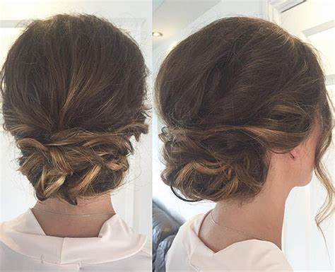 Casual Updo Hairstyles by 40 And Easy Updos For Medium Hair Buns Casual And