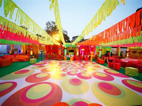 carnival themed stall weddings at kalidas ground mulund venue decoration