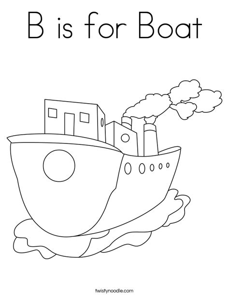 B Is For Boat Coloring Page Twisty Noodle A Is For Coloring Pages