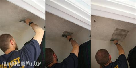 How To Remove Popcorn Ceilings Easy Cheap Tricks With Photos How To Scrape Ceiling